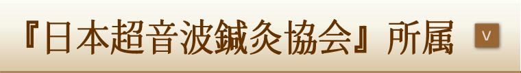 『日本超音波鍼灸協会』所属